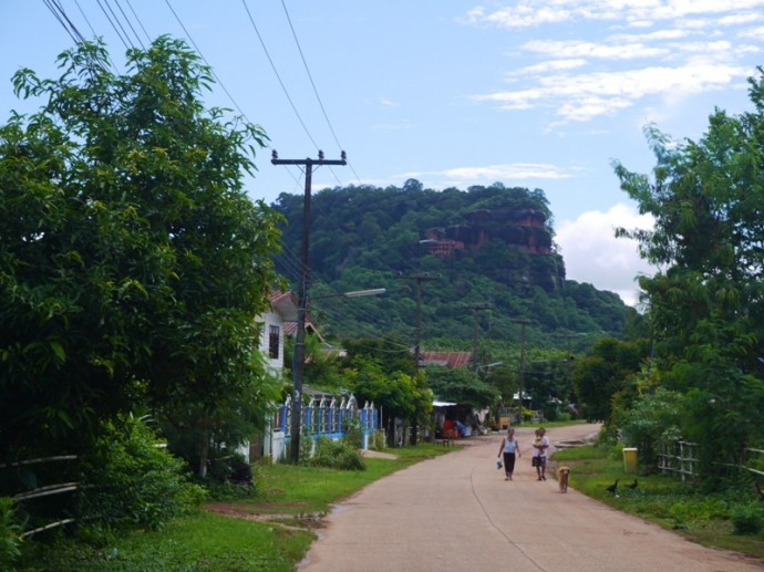 View From Village As You Approach Wat Phu Tok