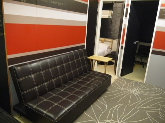 Sofa At Our Airbnb Apartment In Hong Kong