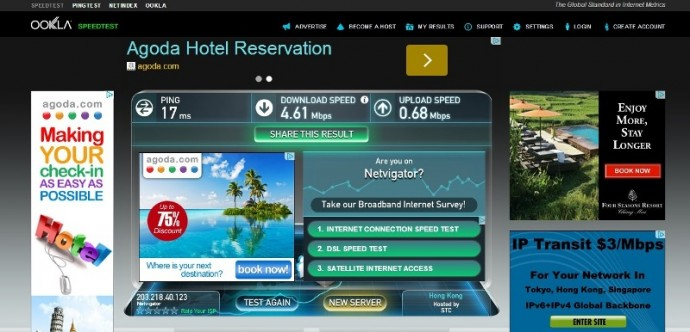 Wifi Speed Test At Our Airbnb Apartment In Hong Kong