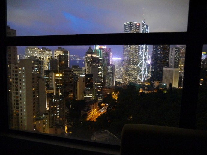 Night View From Our Room At Bishop Lei International Hotel, Hong Kong