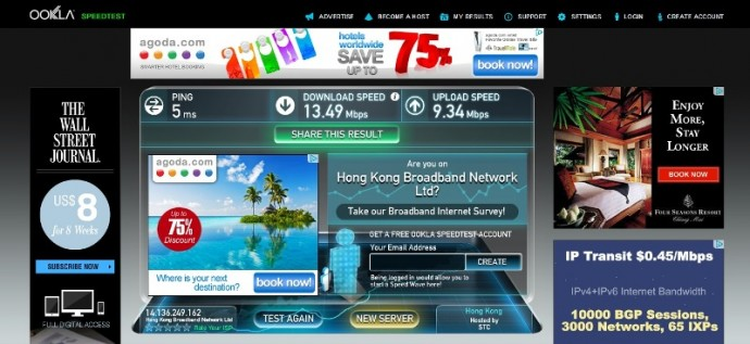 Fast Internet At Bishop Lei International Hotel, Hong Kong