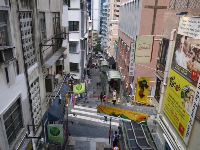 Central Mid-Levels Escalator, Hong Kong