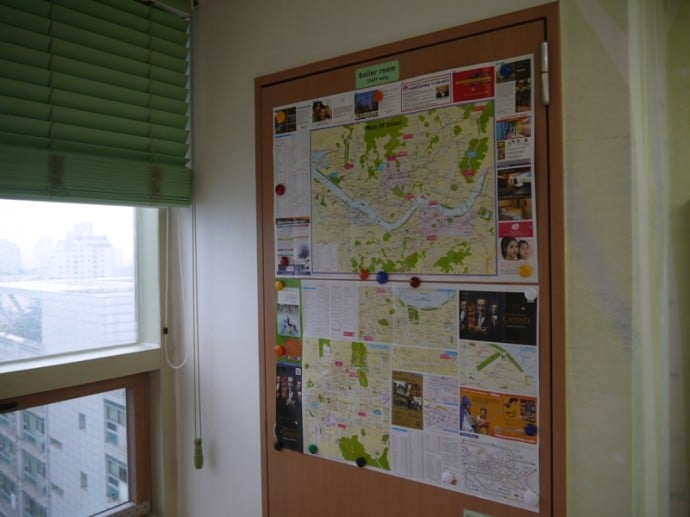 Map Of Seoul At Charm #3 Apartment, SK Hub, Seoul