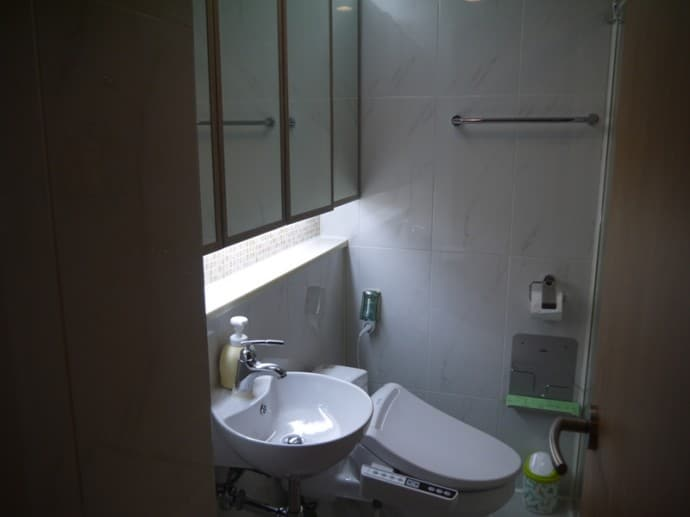 Sink & Toilet At Charm #3 Apartment, SK Hub, Seoul