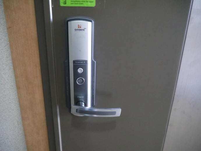 Electronic Door Entry System At Charm #3 Apartment, SK Hub, Seoul