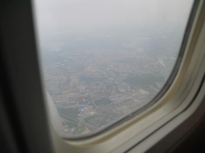 China Eastern Airlines Approaching Kunming Airport