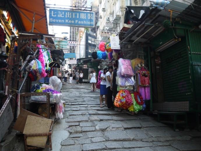A Hong Kong Ladder Street On Hong Kong Island