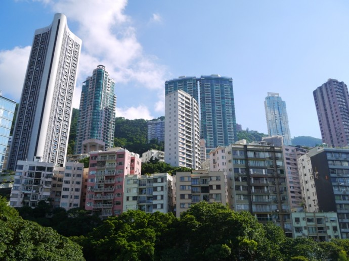 View From The Vantage Point In Hong Kong Park