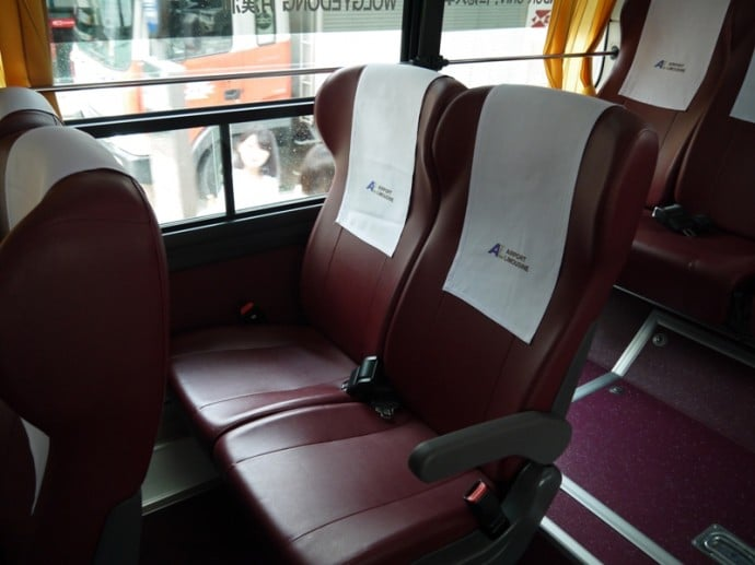 Seats On Incheon Airport Limousine Bus, Seoul