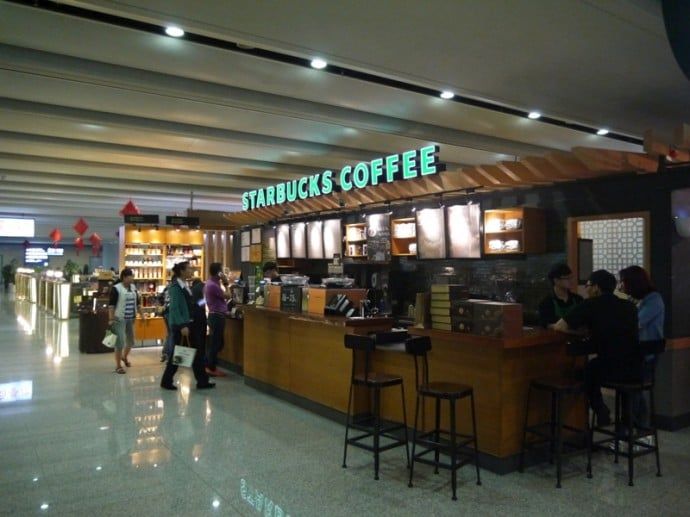Starbucks At Kunming Airport, China