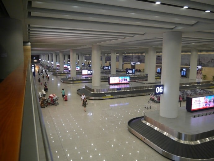 Baggage Reclaim Area At Kunming Airport