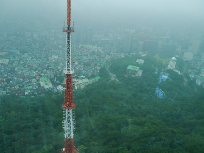 View From Observation Deck Of N Seoul Tower