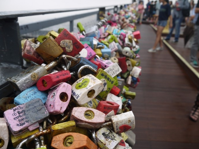Thousands Of Locks At N Seoul Tower