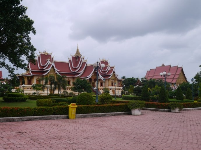 Temple Complexes At Pha That Luang, Vientiane, Laos