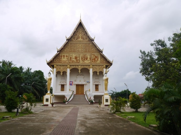 Temple At Pha That Luang, Vientiane, Laos