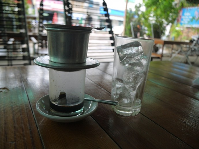 Vietnamese Iced Coffee At Vegetarian In The Golden Age, Vientiane