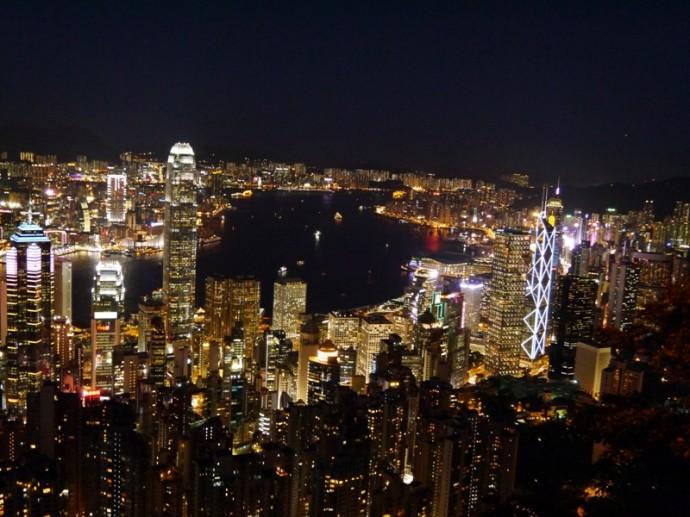 Breathtaking Views Of Hong Kong At Night