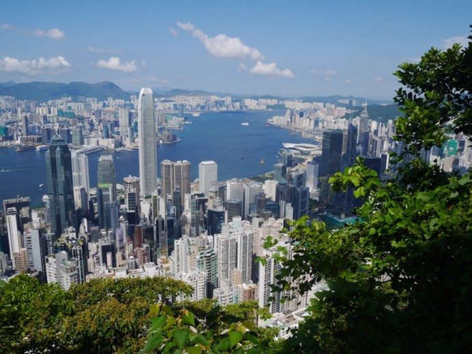 View From Lugard Road On Victoria Peak, Hong Kong