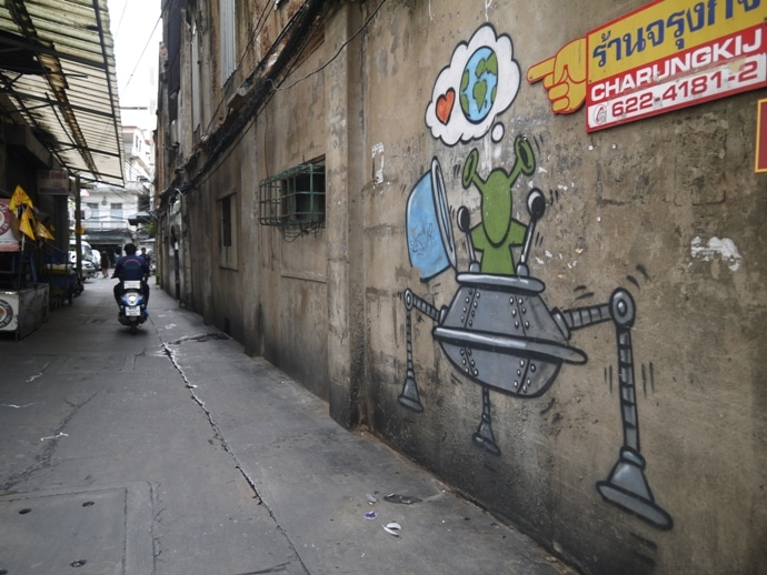 Street Art in Bangkok's Chinatown