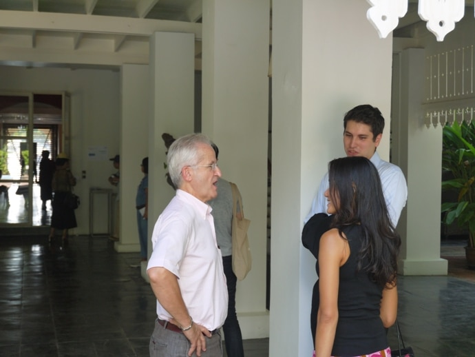 French Ambassador To Thailand, Thierry Viteau, Chatting To Visitors