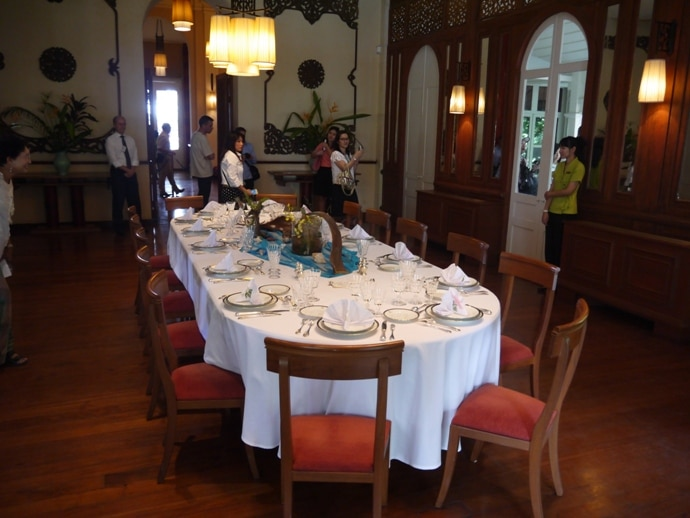 First Floor Dining Room At French Ambassador's Residence In Bangkok
