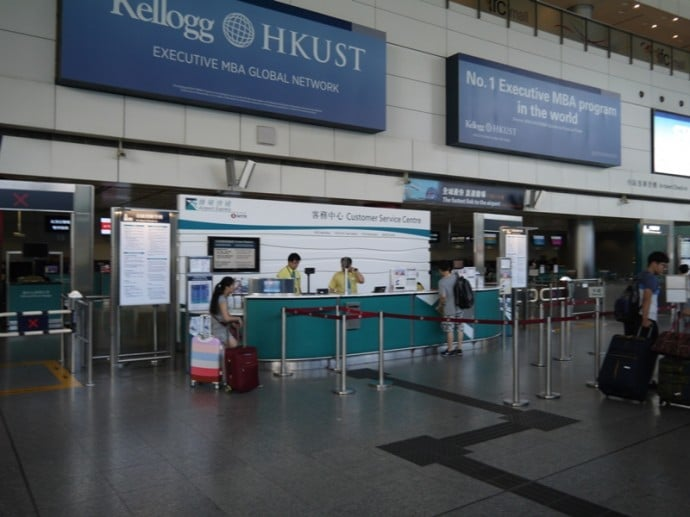 Hong Kong's Airport Express Customer Service Desk
