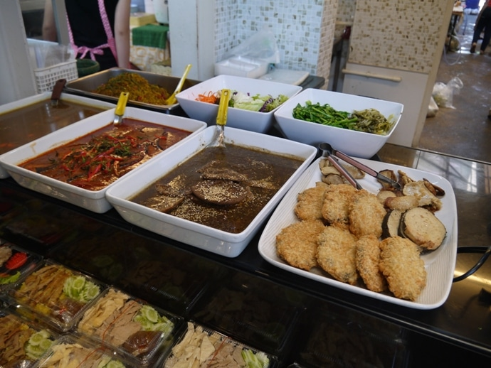 Just A Small Part Of The Huge Selection Of Food At Banana Family Park