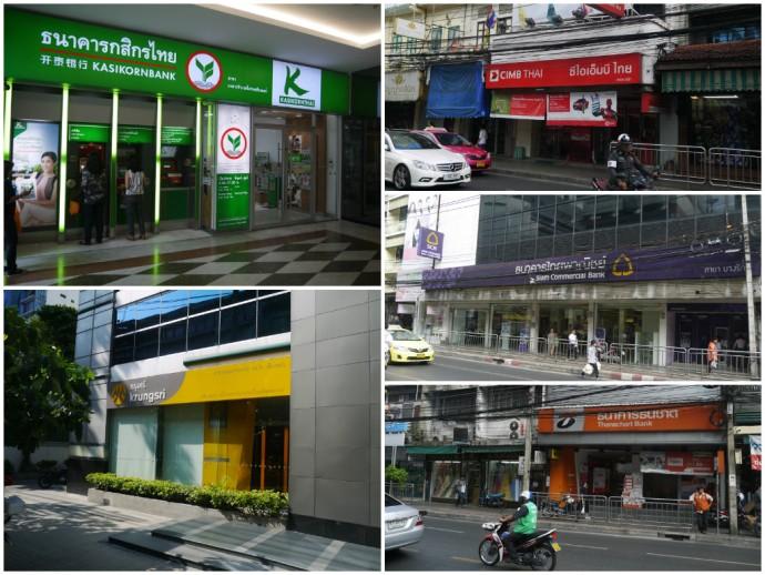 A Few Of Bangkok's Many Banks