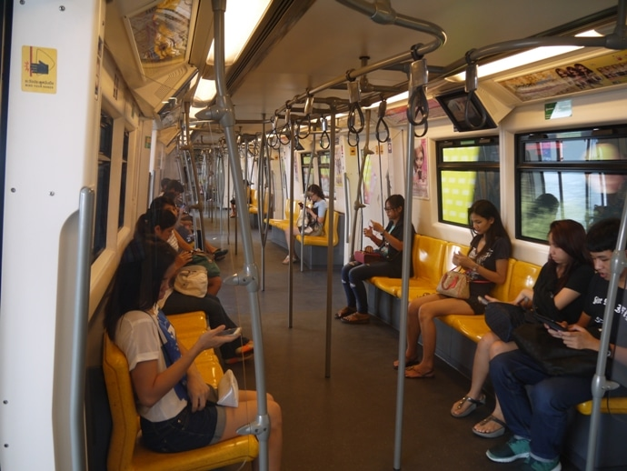 A Bangkok BTS Train - Clean, Modern & Effecient
