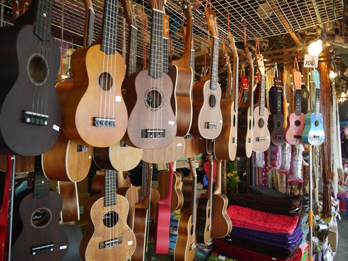 Mini Guitars At Bangkok's Famous Chatuchak Market