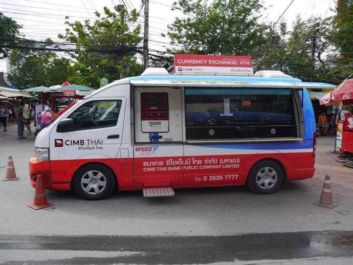 Mobile ATM & Currency Exchange At Chatuchak Weekend Market