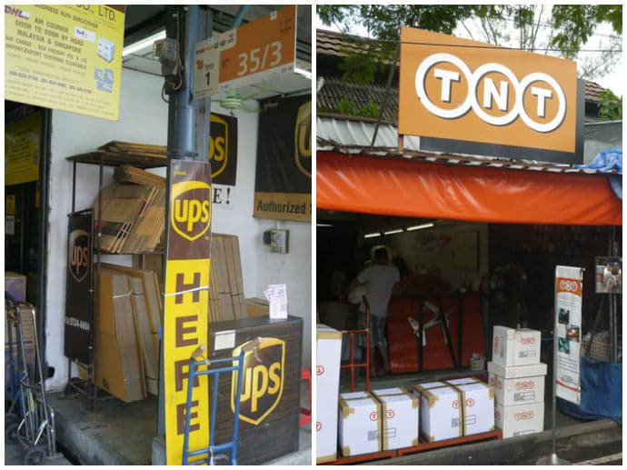 UPS & TNT Stores At Chatuchak Weekend Market