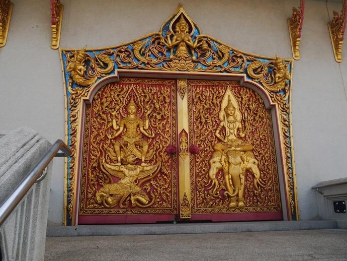 Impressive Doors At The David Beckham Temple, Bangkok