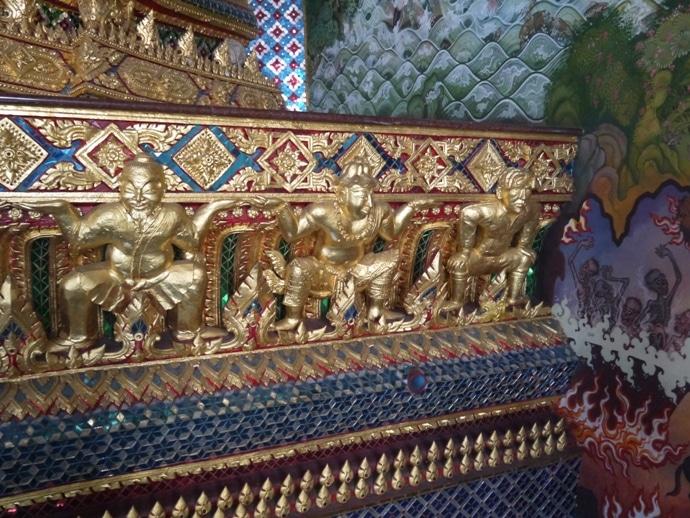 David Beckham Alongside The Other Images At Wat Pariwat Temple, Bangkok