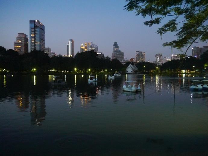 Early Evening Boating At Lumphini Park, Bangkok