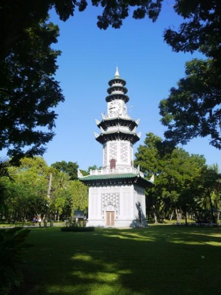 Ornate Clock Tower At Lumphini Park, Bangkok