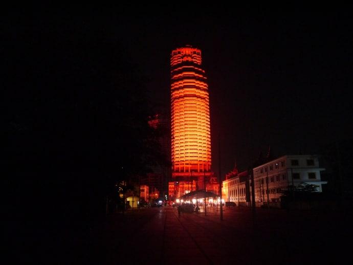 Monument - A 200,000 Watt Lighting Installation At Sathorn Unique Building, Bangkok