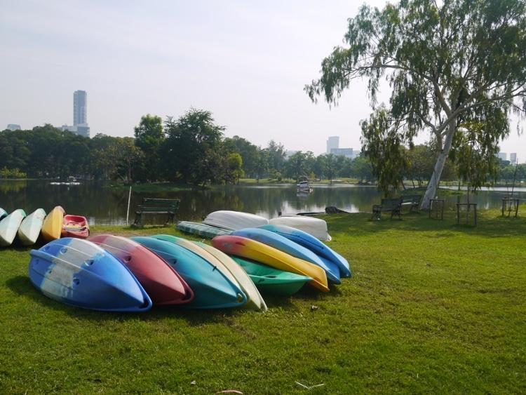 Boating Lake At Rot Fai Park, Bangkok