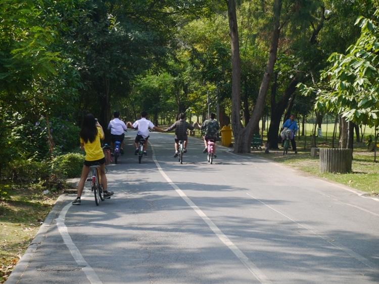 Kids Having Fun At Tot Fai Park, Bangkok