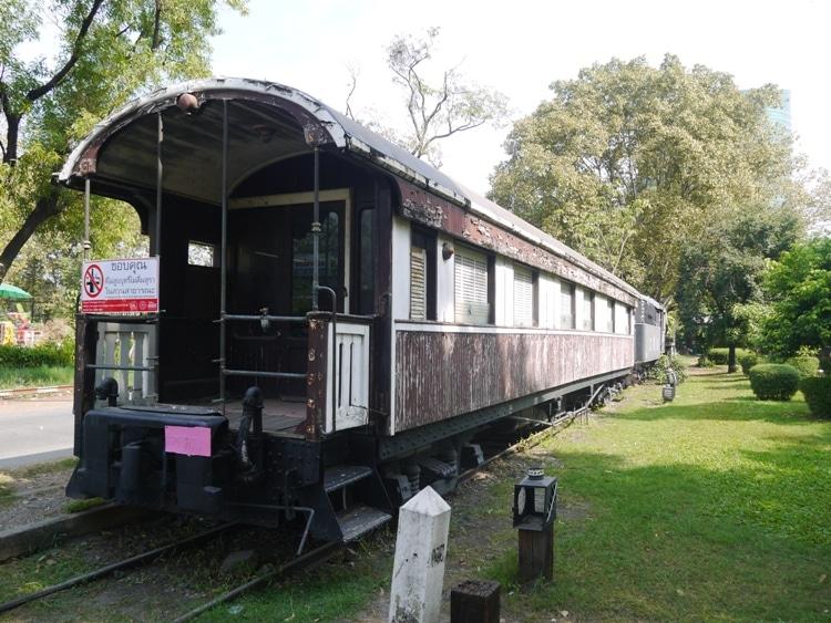 Old Train Carriage At Rot Fai Park, Bangkok