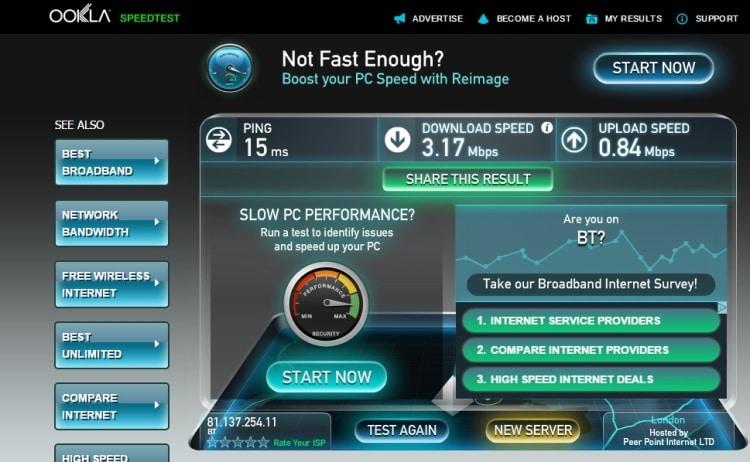 Wifi Speed Test At 73 Suites Apart Hotel, Bayswater, London