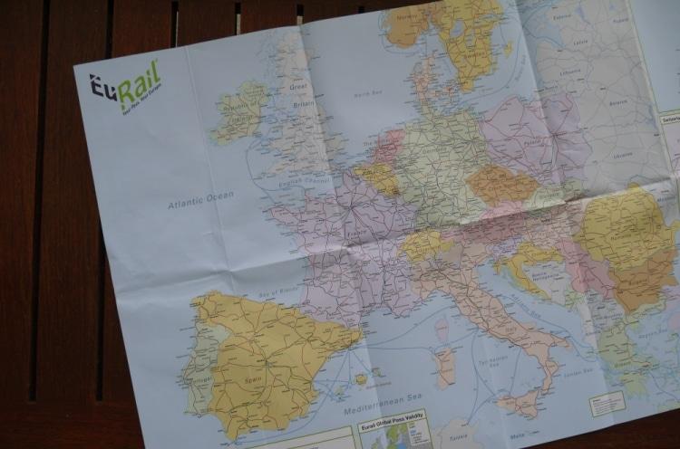 Eurail Rail Map