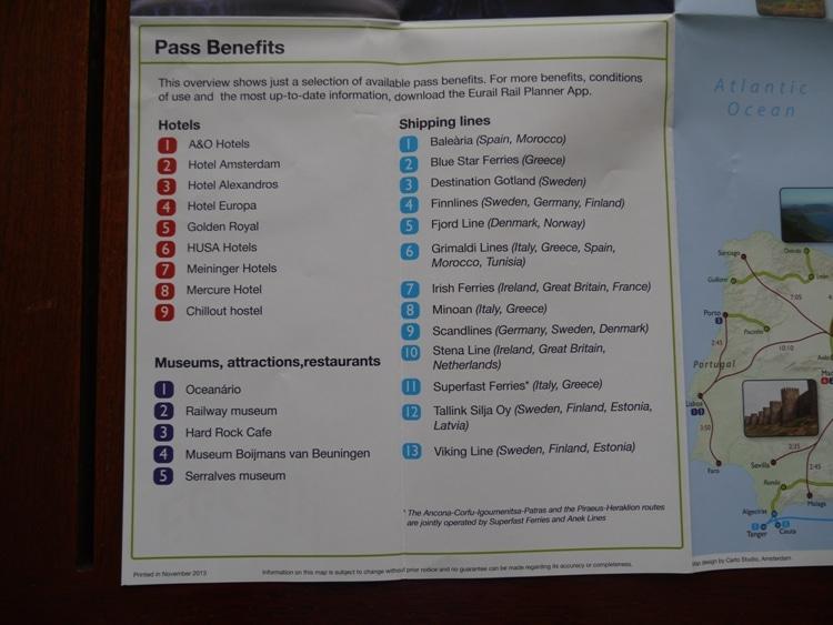 Eurail Pass Benefits