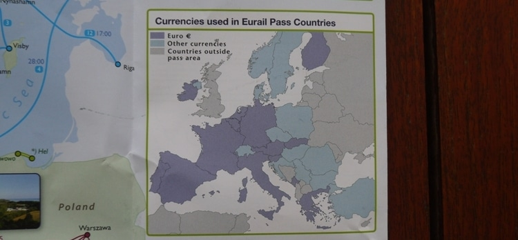 Currencies Used In Eurail Pass Countries