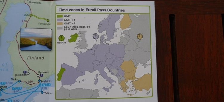 Time Zones In Eurail Pass Countries