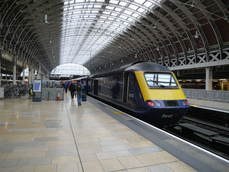 Our First Great Western Train In The Beautiful Paddington Station