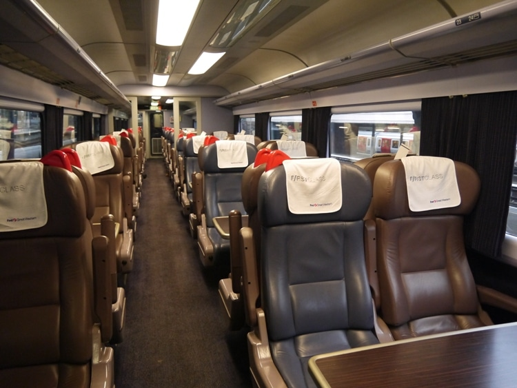 First Class Carriage On The First Great Western Train To Swansea