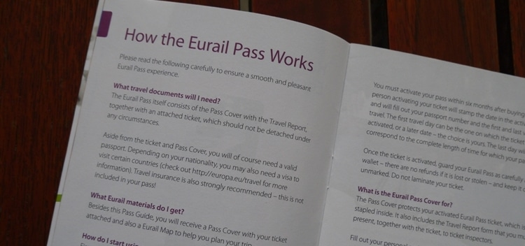How The Eurail Pass Works