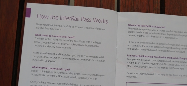 How The InterRail Pass Works