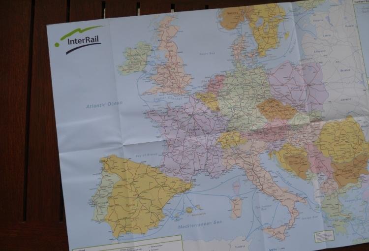 InterRail Rail Map